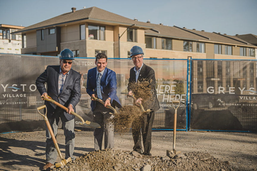 Greystone Village's River Terraces Ground Breaking