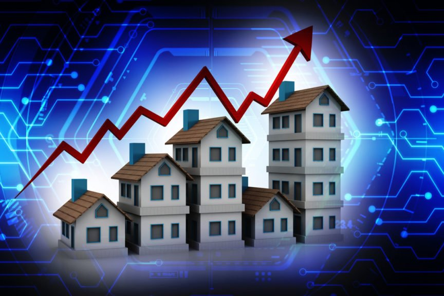 Visual of House market prices going up