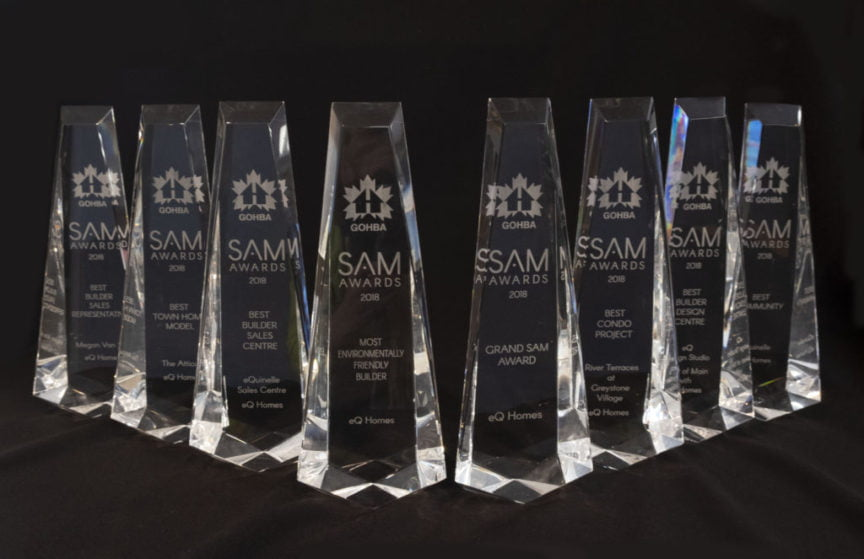 The Regional Group awarded with a Grand Slam of awards at the 2018 SAM Awards for eQ Homes - Real Estate Companies