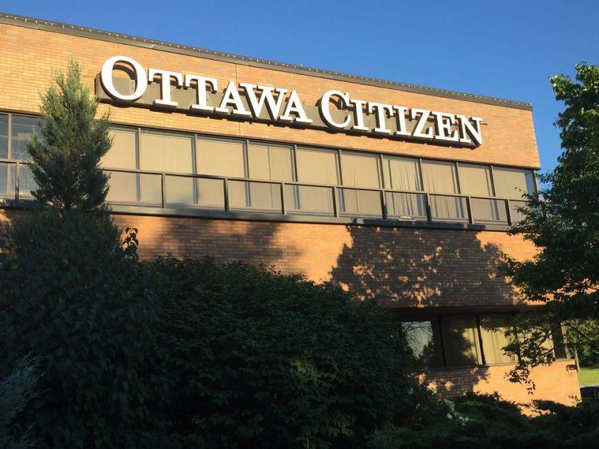 image of the outside of the Ottawa Citizen building - Property Development Ottawa